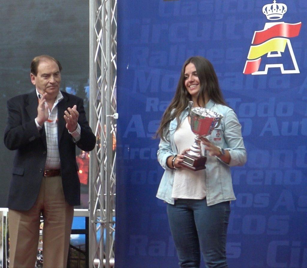 Campeona en categoría femenina del Campeonato de España de Rallies TT