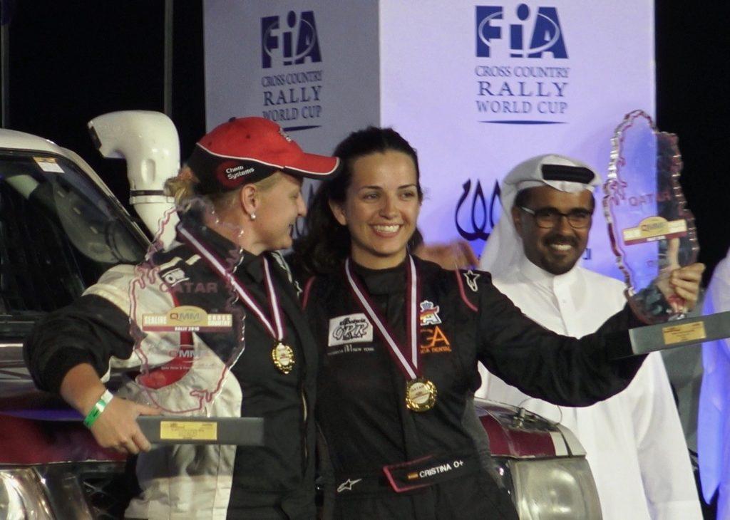 Campeona en categoría femenina del Sealine Cross-Country Rally